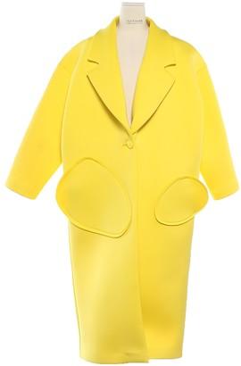 Jacquemus La Femme Enfant Yellow Coat for Women