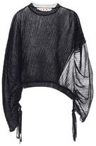 Marni Asymmetric silk and cotton top