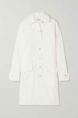By Malene Birger Net Sustain Magdelena Frayed Organic Denim Coat - White