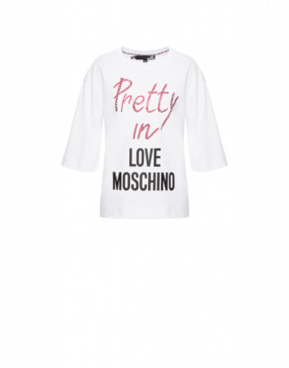 Love Moschino Cotton Jersey T-shirt Pretty In Love
