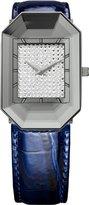 Jowissa Women's J8.010.S Scala Stainless Steel Blue Genuine Leather Rhinestone Imprint Dial Watch