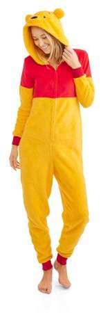 Winnie the pooh women`s and women`s plus sleepwear adult costume