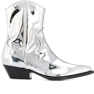 Philosophy di Lorenzo Serafini metallic cow boy boots