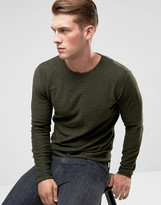Only & Sons Raw Edge Jumper In 100% Cotton