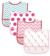 Baby Vision BabyVision® Luvable Friends® 4-Pack PEVA Flamingos Bib Set