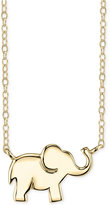 Unwritten Elephant Pendant Necklace in 14k Gold-Plated Sterling Silver