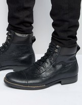 Bellfield Sigmar Leather Laceup Boots