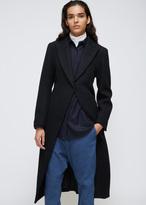 Yohji Yamamoto Black Pleats Long Coat