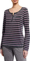 Marc Ny Performance Striped Long-Sleeve Henley T-Shirt