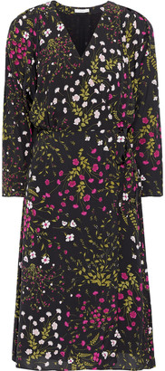 Joie Acantha B Floral-print Crepe De Chine Wrap Dress