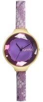 RumbaTime Orchard Gem Exotic Leather Amethyst Watch, 34.2mm