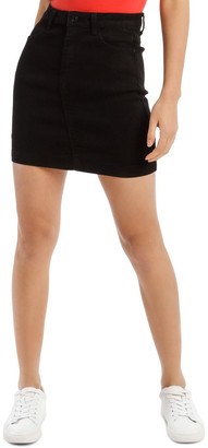 Missguided Black Denim Superstretch Mini Skirt