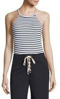 Splendid Striped Halter Bodysuit