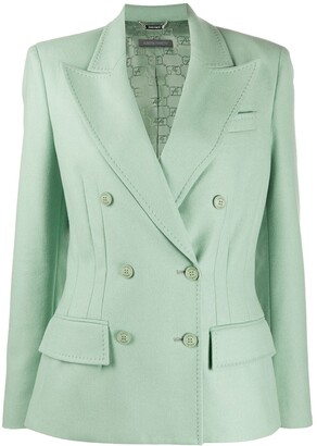 Alberta Ferretti Long-Sleeved Dart Detail Blazer
