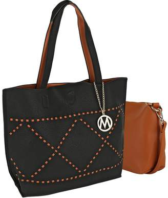 MKF Collection by Mia K. Women's Totebags Black - Black Stud-Accent Delly Tote & Crossbody Bag