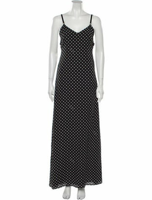 Boutique Moschino Polka Dot Print Long Dress Black