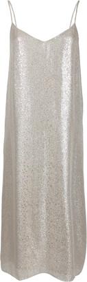 Marie France Van Damme Metallic Cotton-Silk Knee-Length Dress