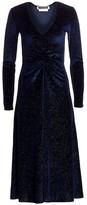 Rotate by Birger Christensen No. 7 Velvet Glitter Midi Dress