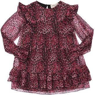 Alberta Ferretti Leopard Print Georgette Party Dress