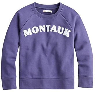 crewcuts by J.Crew Crew Neck Pullover (Toddler/Little Kids/Big Kids) (Montauk) Girl's Clothing