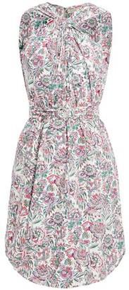 Vanessa Bruno Loiza Twisted Floral-print Cotton Mini Dress