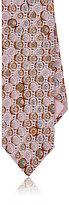 Prada Men's Abstract-Medallion-Print Silk Necktie