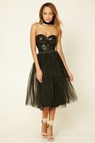 Forever 21 FOREVER 21+ Rare London Sequin Combo Dress