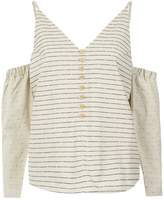 Lilly Sarti striped cold shoulder top