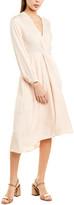 Vince Twist Drape Midi Dress