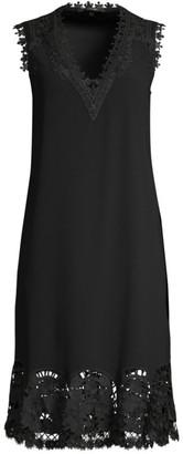 Kobi Halperin Donna Lace Trim Sleeveless Midi Dress
