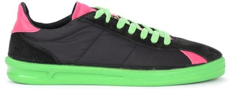 Comme des Garcons Sneaker In Multicolor With Green Rubber Sole