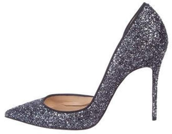 0616368b7a5 Glitter Semi d'Orsay Pumps Blue Glitter Semi d'Orsay Pumps