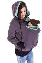 D2SKIN Womens Maternity Feece Hoodie Kangaroo Pocket Carrier Baby Hoder