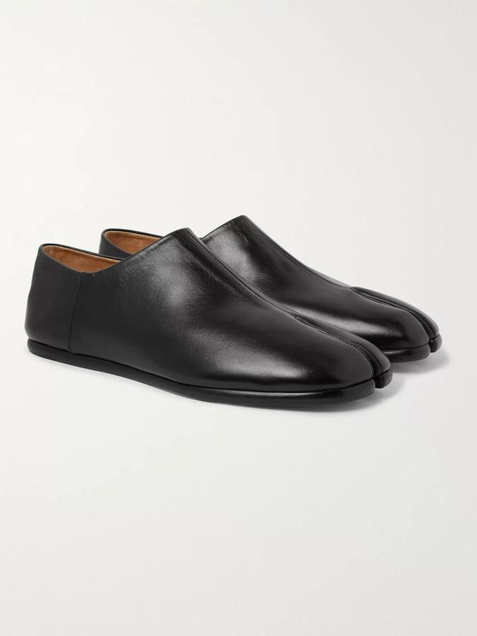 Maison Margiela Tabi Split-Toe Leather Collapsible-Heel Loafers