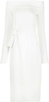 P.A.R.O.S.H. Bow-Detail Midi Dress