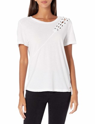 n:philanthropy Women's Gaia Short Sleeve with Lacing Detail