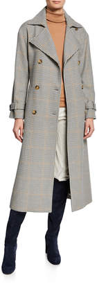 Loro Piana Linford Fancy 70s Plaid Wrap Coat