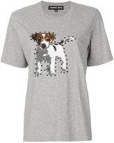 Markus Lupfer Sequin Puppy Alex T-Shirt - women - Cotton/Viscose - M