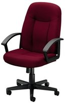 "basyx by HON BSXVL601VA10 Managerial Mid back Chair, 26""x33-1/2""x43"", Black Fabric"