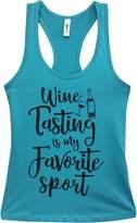 "Cute Wine Gym Tank ""Wine Tasting Is My Favorite Sport"" - Funny Little Royaltee Shirts, Tahiti"