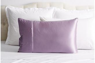 Kumi Kookoon French Pleat Silk Pillow Sham - Lavender