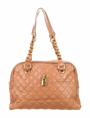 Marc Jacobs Quilted Leather Shoulder Bag Tan