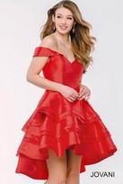 Jovani Stunning Hi-Low Off Shoulder Dress 45301