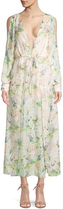 Lumie Floral Cold-Shoulder Dress
