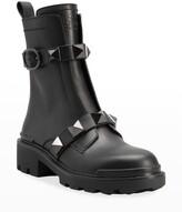 Thumbnail for your product : Valentino Garavani Roman Stud Zip Combat Booties