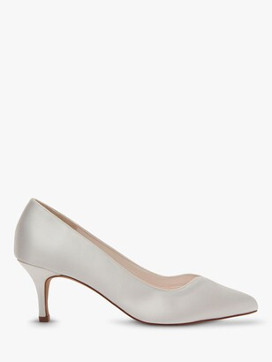 Rainbow Club Elizabeth Stiletto Heeled Court Shoes, Ivory