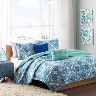 Dakota Home Essence Apartment Blue Coverlet Bedding Set