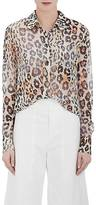 Chloé WOMEN'S LEOPARD-PRINT COTTON-LINEN BLOUSE