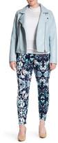Hue Floral Print Denim Leggings (Plus Size)