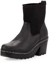 Rag & Bone Nelson Fur-Lined Clog Boot, Black